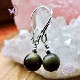 Golden Obsidian Earrings